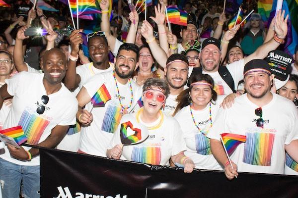 Marchers in the 2018 Pride Bigger Than Texas Parade. - JULIAN P. LEDEZMA