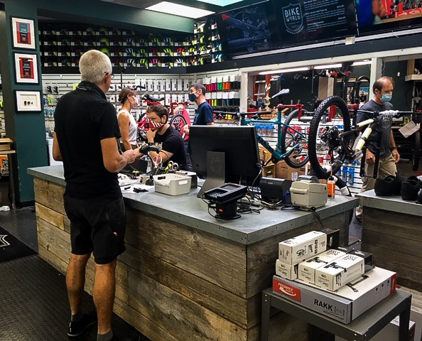 Just another busy day at Bike World's Alamo Heights location. - KATIE HENNESSEY