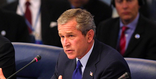 George W. Bush speaks to the UN in this file photo. - WIKIMEDIA COMMONS / PAUL MORSE