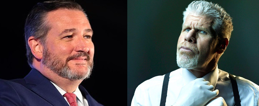 Sen. Ted Cruz (left) is involved in yet another online celebrity feud, this time with actor Ron Perlman (right). - GAGE SKIDMORE / WIKIMEDIA COMMONS (LEFT); RON PERLMAN / FACEBOOK (RIGHT)
