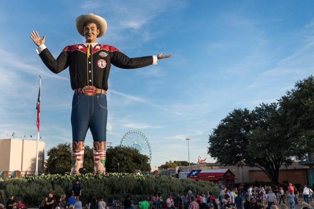 Big Tex greets fairgoers at the 2019 State Fair of Texas. - INSTAGRAM / STATEFAIROFTX