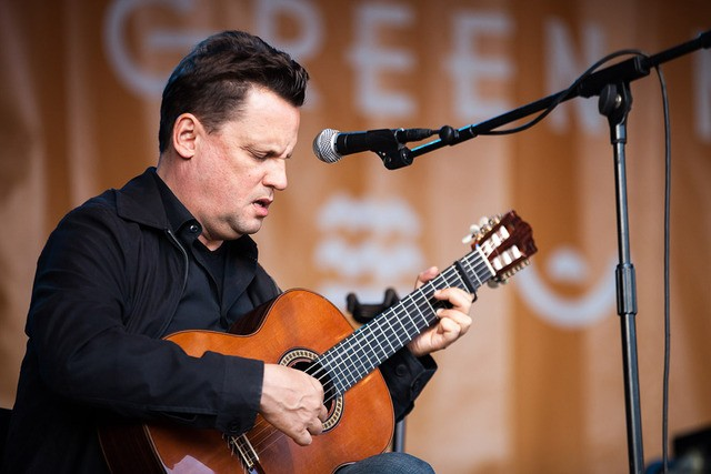 Mark Kozelek of Sun Kil Moon plays at the Coates Chapel of Southwest School of Art on November 19 - COURTESY