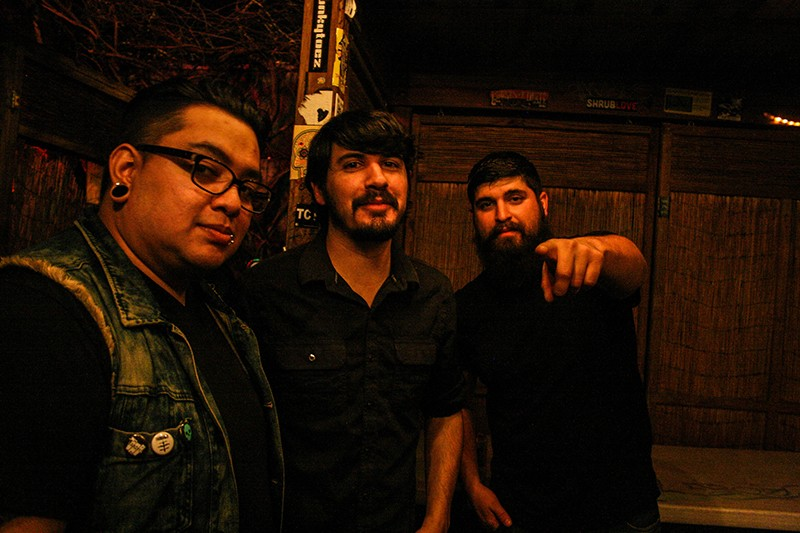 Jason Valdez (center) with The Lost Project. - COURTESY