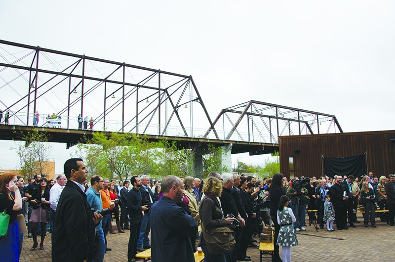 Months go by and the property dispute at the Hays Street Bridge remains unsolved. - KEVIN FEMMEL