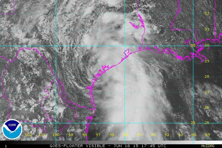 Tropical Storm Bill made landfall just before noon, and it's bringing more rain to Central Texas. - NATIONAL HURRICANE CENTER