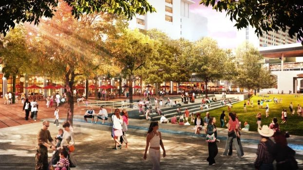 Rendering of the Hemisfair Civic Park - HEMISFAIR PARK AREA REDEVELOPMENT CORPORATION