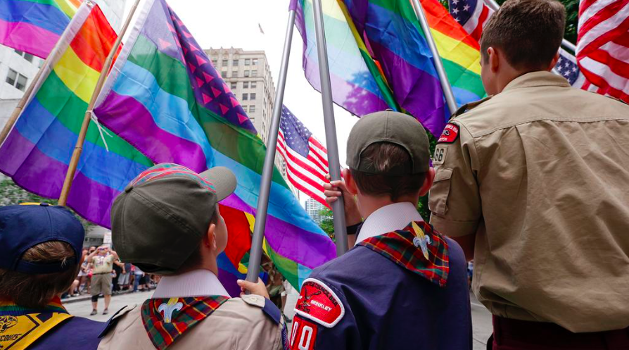 The Boy Scouts of America is set to end its ban on gay adult leaders. - VIA TWITTER USER @MASHABLE