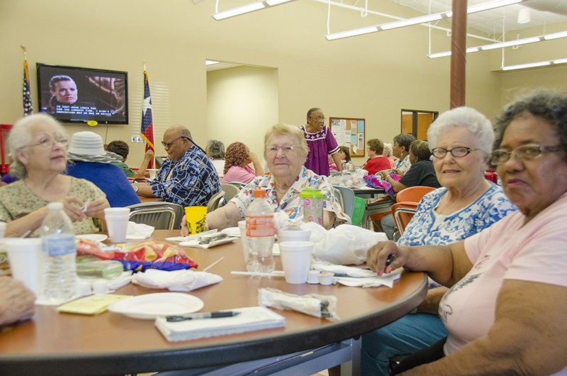 SA senior centers offer our elderly neighbors and relatives free lunch. - MICHAEL MARKS