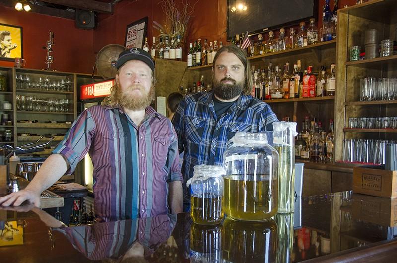 Not-so-monklike creators, Josh Brock (left) and Jacob Burris. - JESSICA ELIZARRARAS
