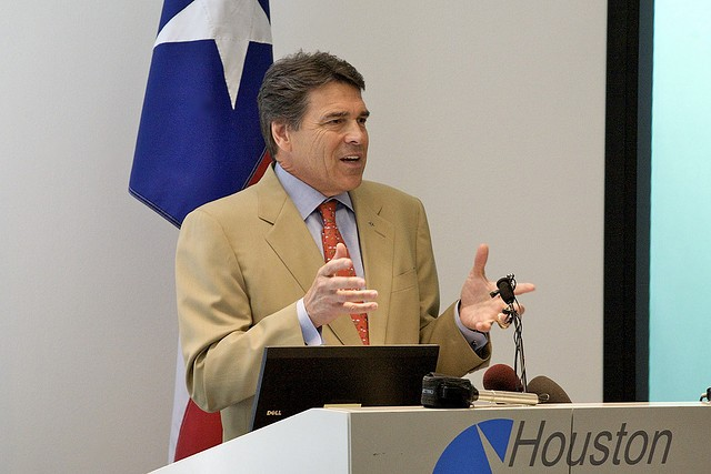 One charge down, one to go for Rick Perry. - VIA FLICKR USER ED SCHIPUL