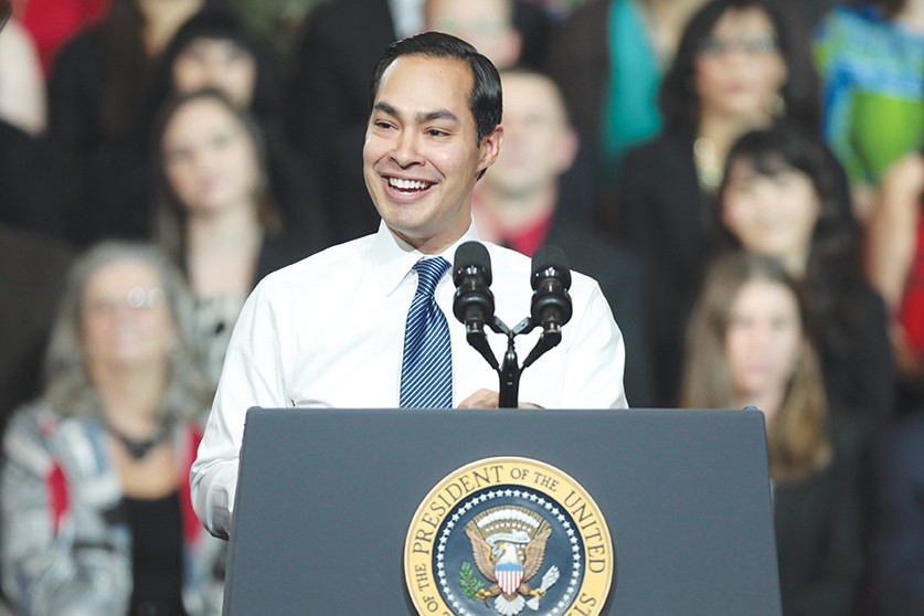 Former SA mayor and current Obama cabinet member Julián Castro is mum on VP rumors and other future political goals. - COURTESY