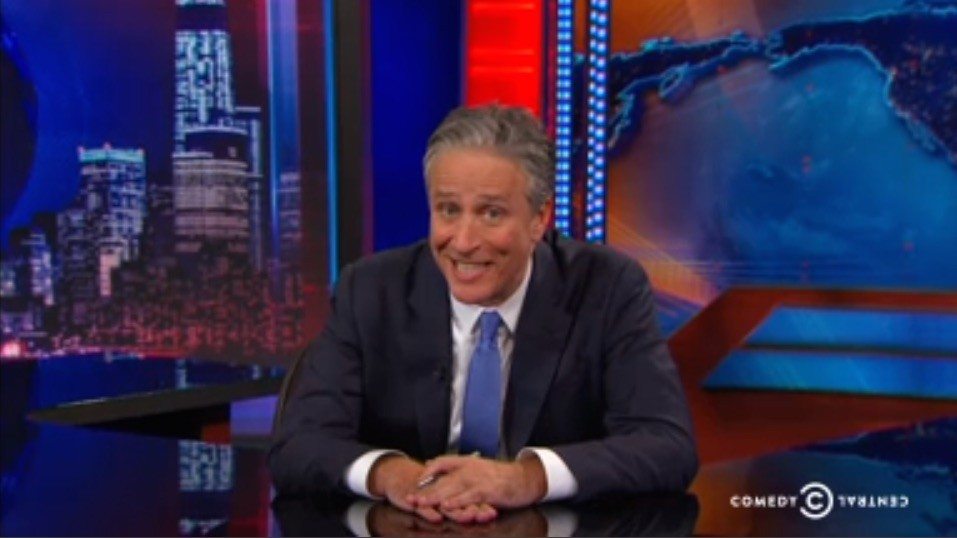 "Jon Stewart said goodbye by explaining bullshit one last time, leaving us with, ""If you smell something, say something."" - COMEDY CENTRAL SCREENGRAB"