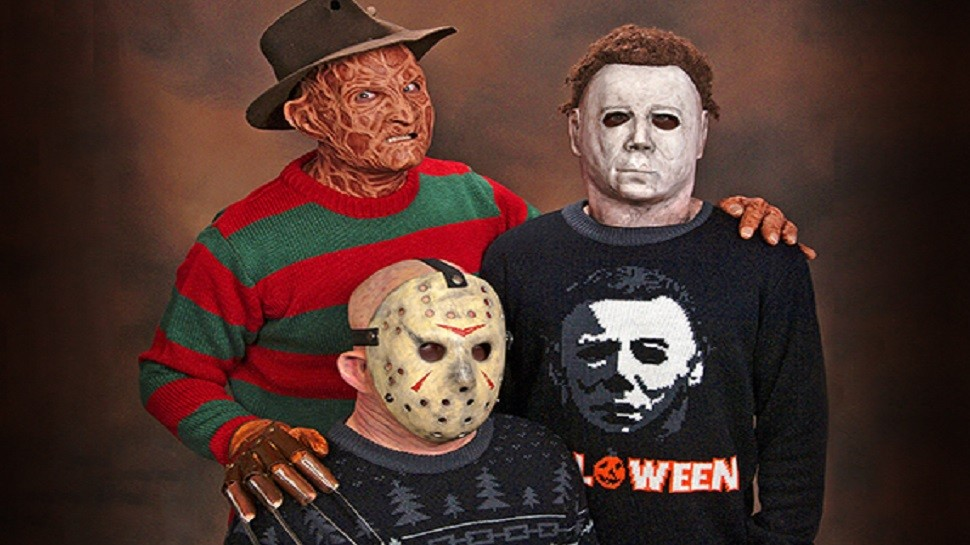 The ugly horror movie sweaters are amazing. - MONDO