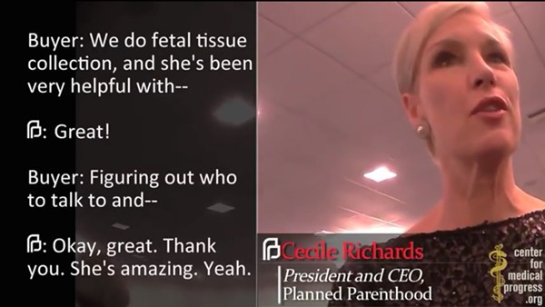 A screenshot from one of the videos which moved Texas officials to drop Planned Parenthood from Medicaid. - YOUTUBE SCREENSHOT