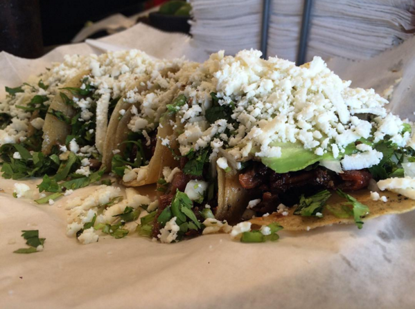 Tripas and bistek from Mr. Taco in Brownsville - JESSICA ELIZARRARAS