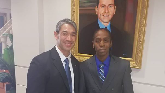 Pharaoh Clark (right) met with San Antonio Mayor Ron Nirenberg this summer to advocate for reforms to SAPD. - INSTAGRAM / @SA_ACCOUNTABILITY