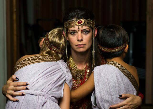 Georgette Lockwood portrays vengeful Medea. - SIGGI RAGNAR