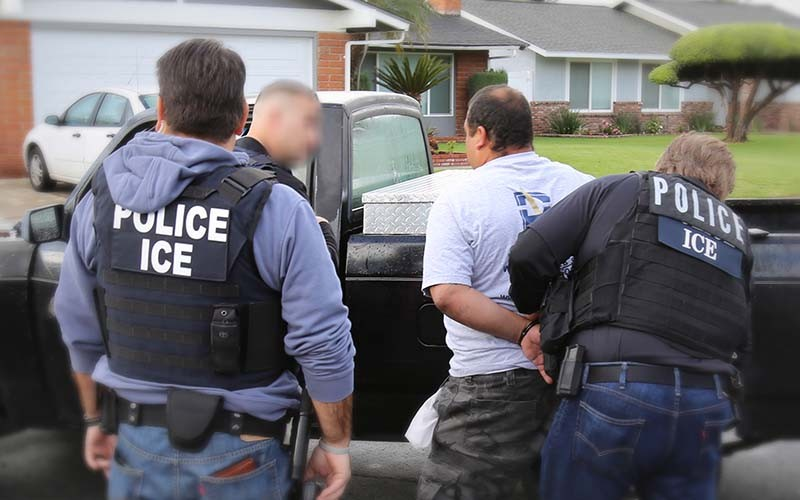 The SAPD only calls ICE if a suspect has an active federal immigration warrant. - IMMIGRATION AND CUSTOMS ENFORCEMENT (ICE)