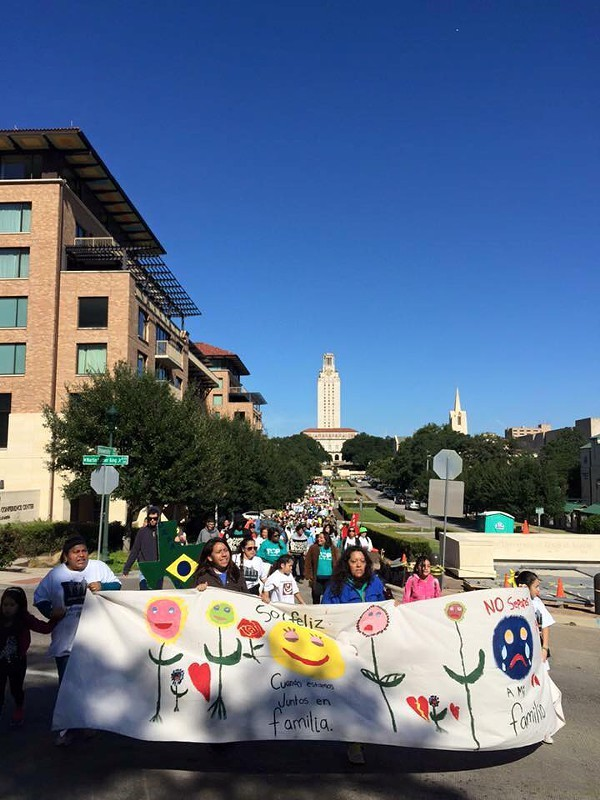 Immigration reform groups marched to the governor's mansion last weekend. - TEXAS ORGANIZING PROJECT