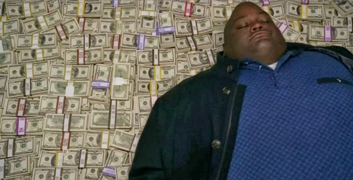 Following Huell's lead is obviously a must-do for any new millionaire. - AMC/YOUTUBE SCREENSHOT
