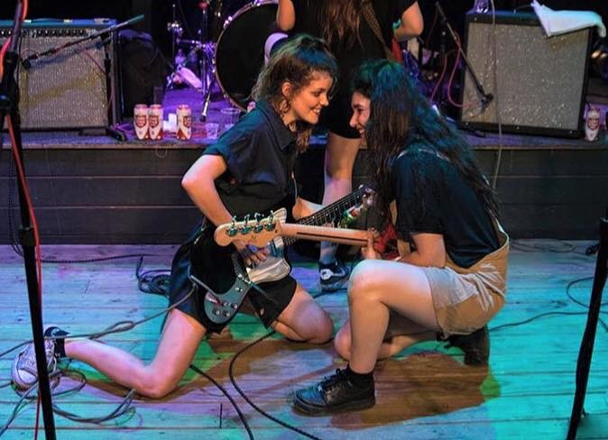 Hinds, playing one of their 17 SXSW sets. - FACEBOOK