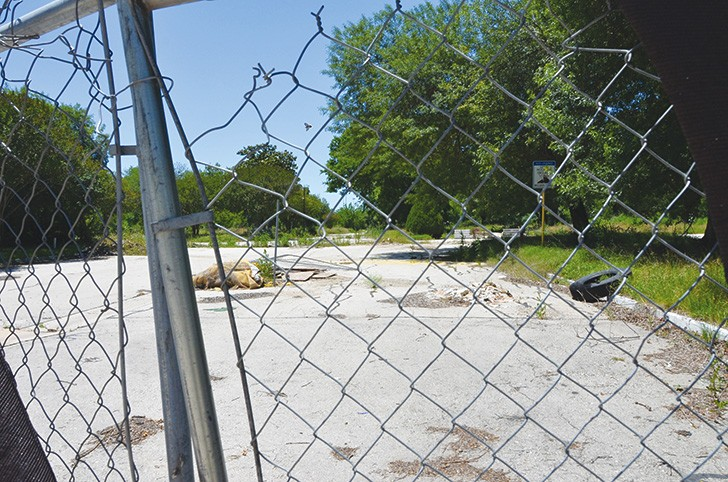 Nature is reclaiming the former Mission Trails Mobile Home Community.