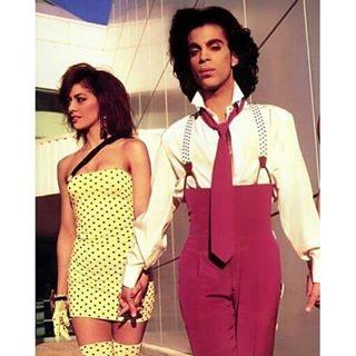 Sheila E. with her one-time fiancé, the late Prince. - COURTESY