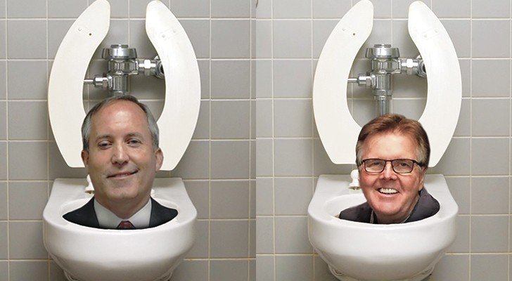 If only we could flush Attorney General Ken Paxton and Lt. Gov. Dan Patrick's transphobic rhetoric down the toilet.