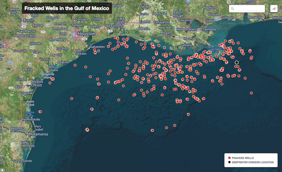 The Feds Approved A Lot Of Fracking In The Gulf After BP Oil Spill - Us fracking map 2016