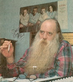 PAPA BEAR DURING THE EARLY DAYS OF THE SAN ANTONIO AIDS FOUNDATION. (PHOTO COURTESY ROBERT EDWARDS COLLECTION)