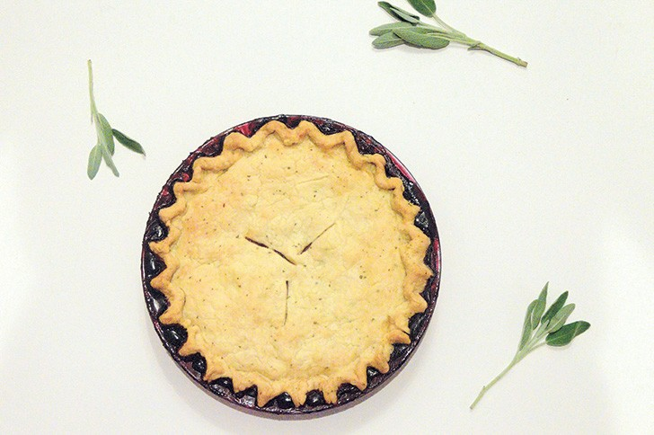 BLUEBERRY SAGE PIE, PHOTO BY LEA THOMPSON