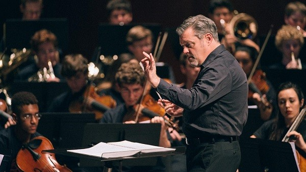 """Peters in action during """"YOSA Presents Abbey Road Live."""" - COURTESY OF TPR AND DO210"""