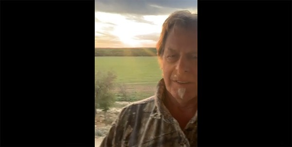 Fervent COVID-denier Ted Nugent posted this video clip in which he admits the coronavirus knocked him on his ass. - FACEBOOK SCREEN CAPTURE / TED NUGENT