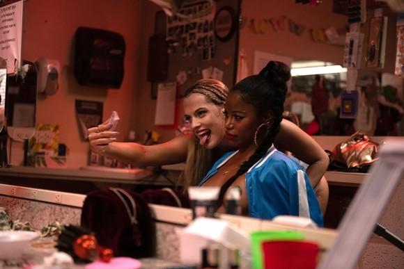 Riley Keough and Taylour Paige take a selfie. - ANNA KOORIS / A24