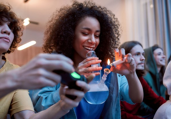 While more college students picked up the bong during the pandemic, their alcohol use went down. - SHUTTERSTOCK.COM
