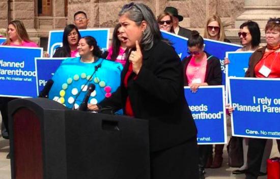 Rep. Farrar at a Planned Parenthood rally at the Texas Capiotl - FACEBOOK VIA REP. JESSICA FARRAR