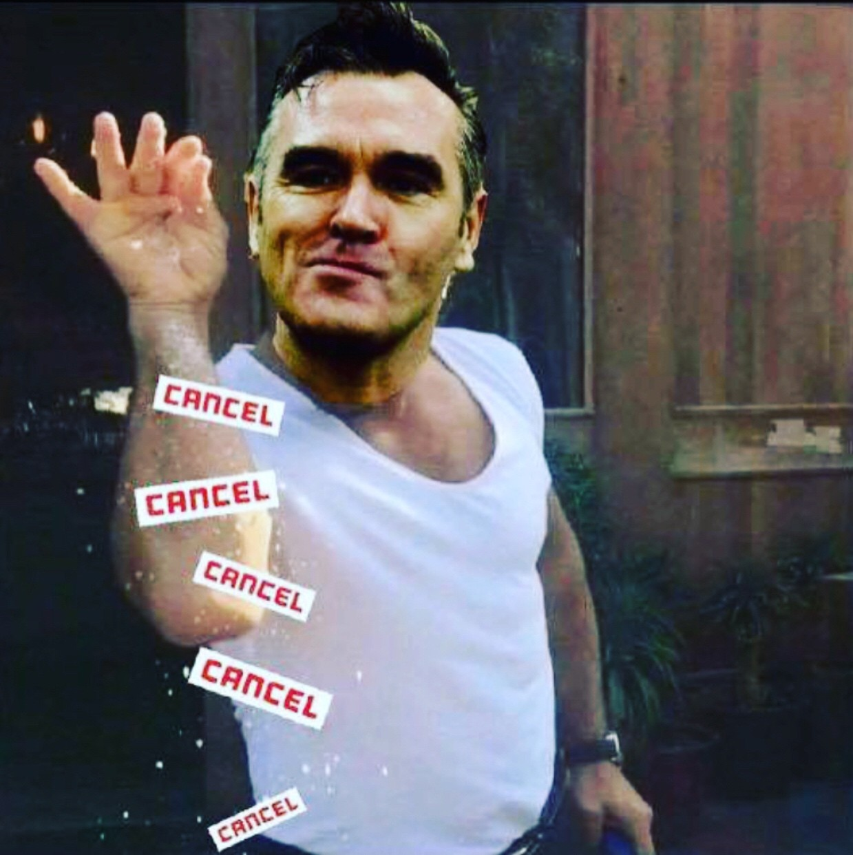 img_2248 morrissey cancels on us for the third time this year sa sound,Morrissey Meme