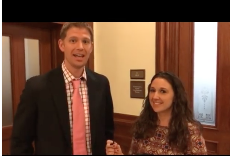 Rep. Matt Krause and Texans for Vaccine Choice organizer Jackie Schlegel discuss the bill. -  SCREENSHOT VIA TEXANS FOR VACCINE CHOICE