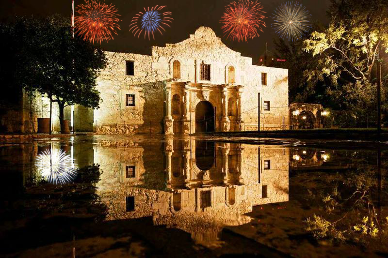INDEPENDENCE DAY AT THE ALAMO