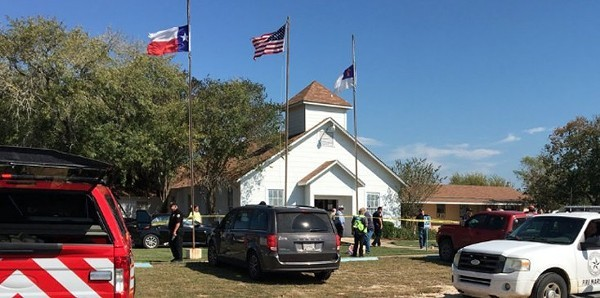 First Baptist Church of Sutherland Springs - TWITTER / @MAJORNEWS911