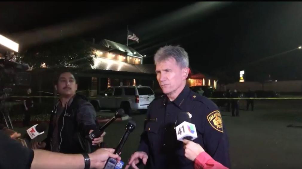 SAPD Chief William McManus at the scene. - FACEBOOK | SAN ANTONIO POLICE DEPARTMENT
