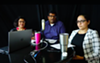 RAICES Director of Family Detention Manoj Govindaiah (center), flanked by two other officials with the nonprofit, discuss the millions of donations that have flowed in.