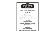 Peggy's & Frank Family Wine Dinner