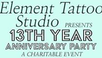 Element Tattoo Studio's 13th Anniversary Party City Wide Fan Drive
