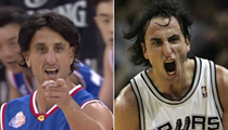 ICYMI, Manu Ginobili Hilariously Wore a Wig During a Celebrity Basketball Game, and Now We're Emotional