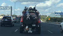 Zombie Car Spotted on Highway 281 North in San Antonio