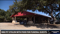 Terrible Thieves Make Off With Barbecue Pit Full of Meat for Funeral Guests
