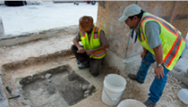 Archeologists Discover Part of a Wall During Alamo Excavations