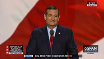 "Ted Cruz Finally Falls In Line, Endorses ""Pathological Liar"" For President"