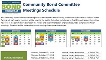 2017-2022 Bond Community Committee Meetings